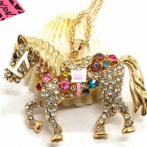 Necklace- NEW- Betsey Johnson Equestrian Horse